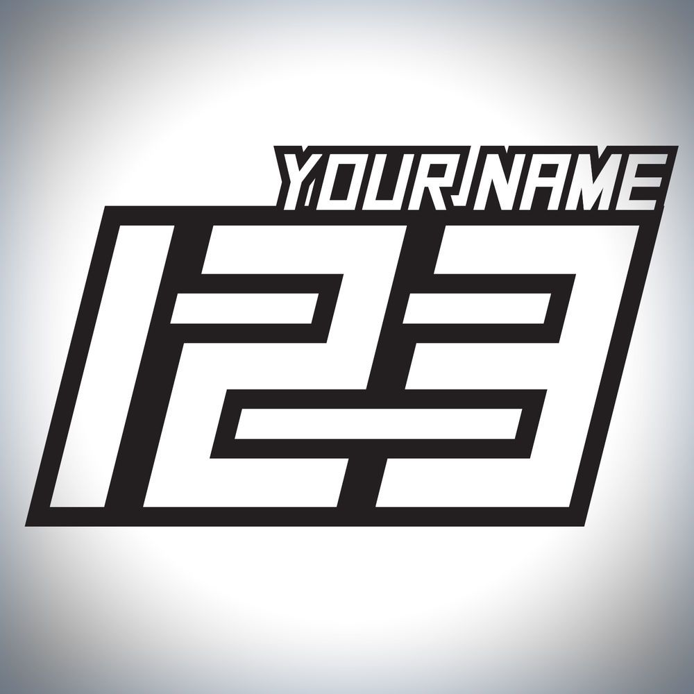 Details About  X Custom Race Numbers And Name Stickers Motocross - Custom bike stickers