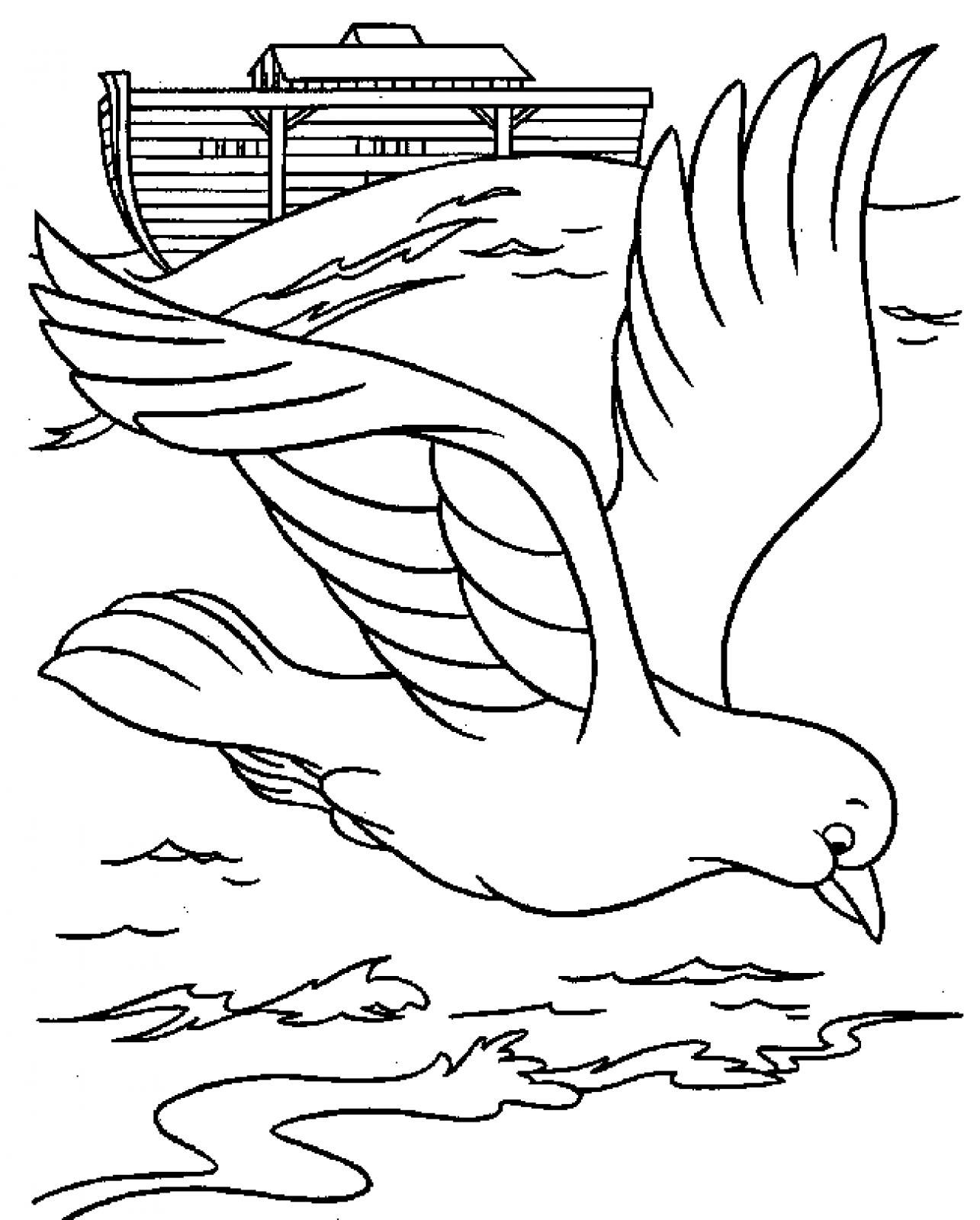 Dove Picture Printable Bible Noah Dove Printable Coloring Pages