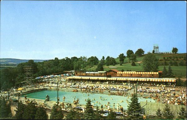 Outdoor Pool And Cabanas Grossingers New York Vintage Photos Of Hudson Valley Ny Area