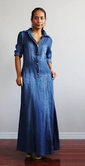 da5119434b Resultado de imagen de modest denim dresses