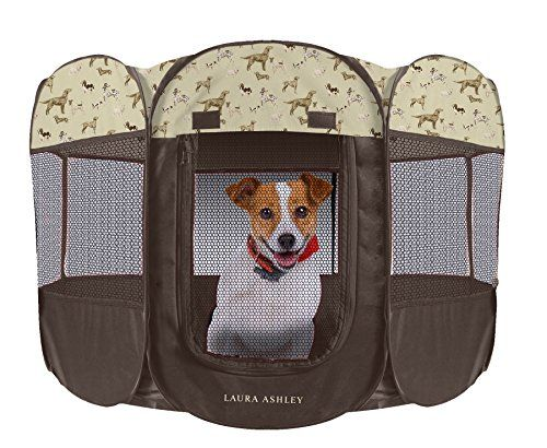 Laura Ashley Printed Pop-up Water-Resistant Pet Playpens,... https://www.amazon.com/dp/B01GIF75VM/ref=cm_sw_r_pi_dp_x_zfFhybPPEKAX4 The Laura Ashley Pet Playpen keeps pets safe and secure indoors and outdoors. The playpen folds flat for storage and has a water resistant base. No Assembly necessary. Built in loops are on bottom so you can stake to the ground. Take advantage of a 20% savings when you use PROMO code 8YFHDZNM at the Amazon checkout page!