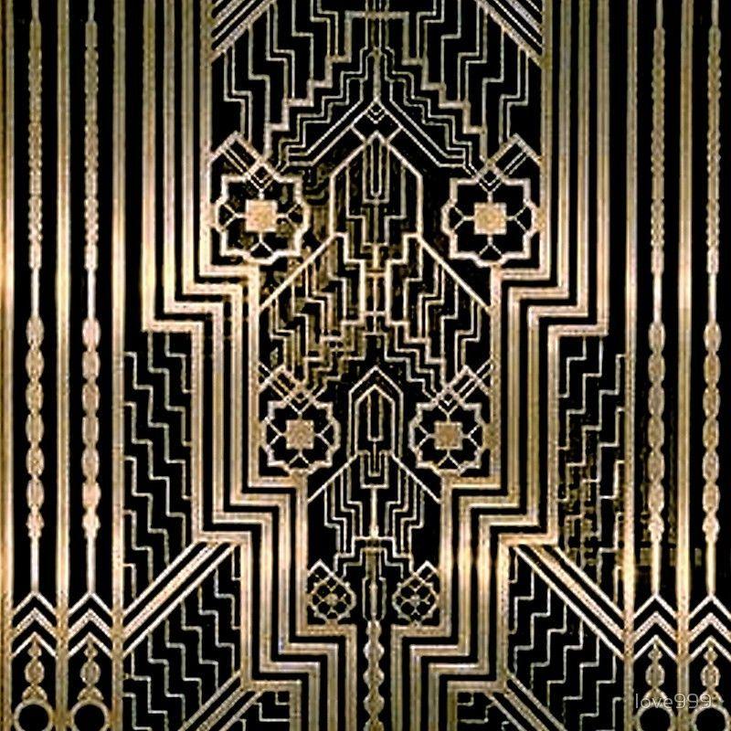 'Art Nouveau,gold,black,art deco,vintage,victorian,belle époque,metallic design,bronze,chic,elegant,' Floor Pillow by love999
