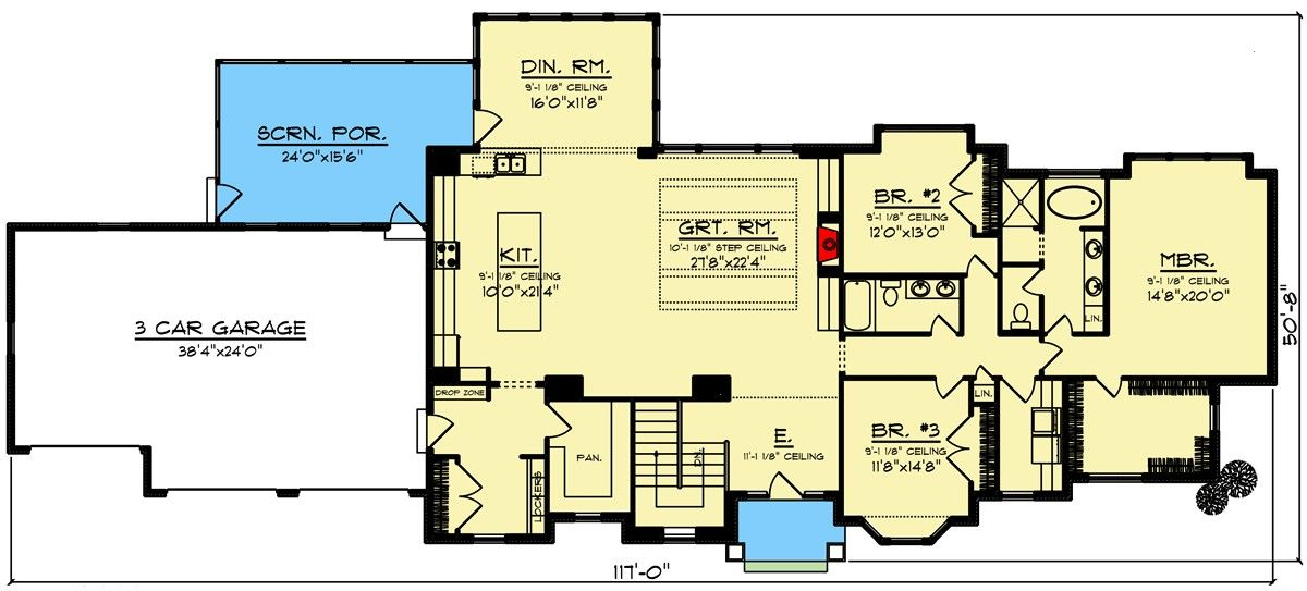 Architectural Farmhouse 890085ah Shallow Designs Ranch House Plan 3bed Wide For The And Lot Pplan 890085ah 3 Bed Farmhouse Ranch For The Wide An 2020
