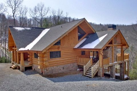 Ranch Style Log Home And Discover Open Concept Living Http Loghomes Rusticliving Org 2016 09 06 Tour This Ranch St Log Homes Log Home Floor Plans Ranch Style