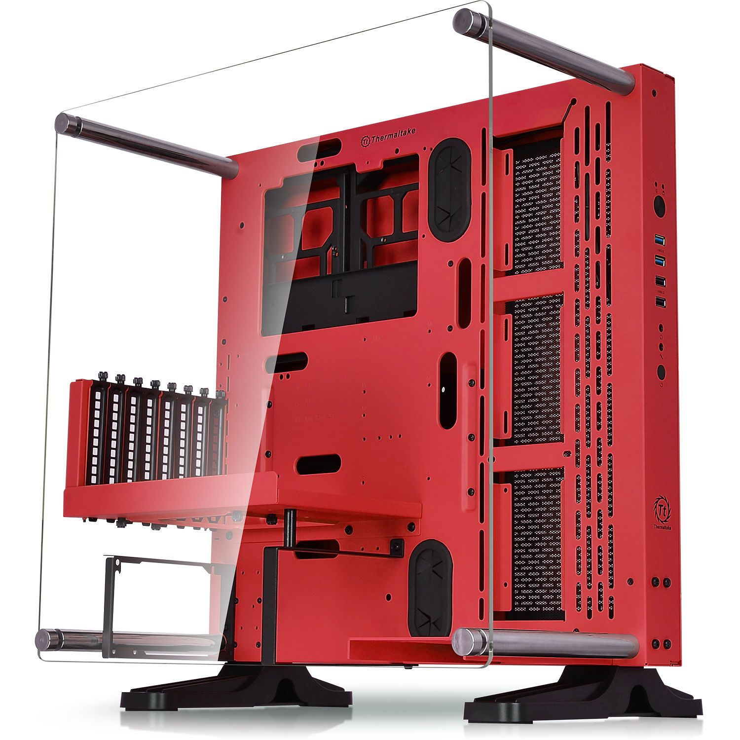 Core P3 SE Red Edition ATX Mid-Tower Open Frame PC Case | Pinterest