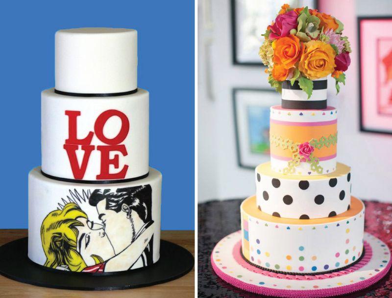 Colourful Wedding Cakes