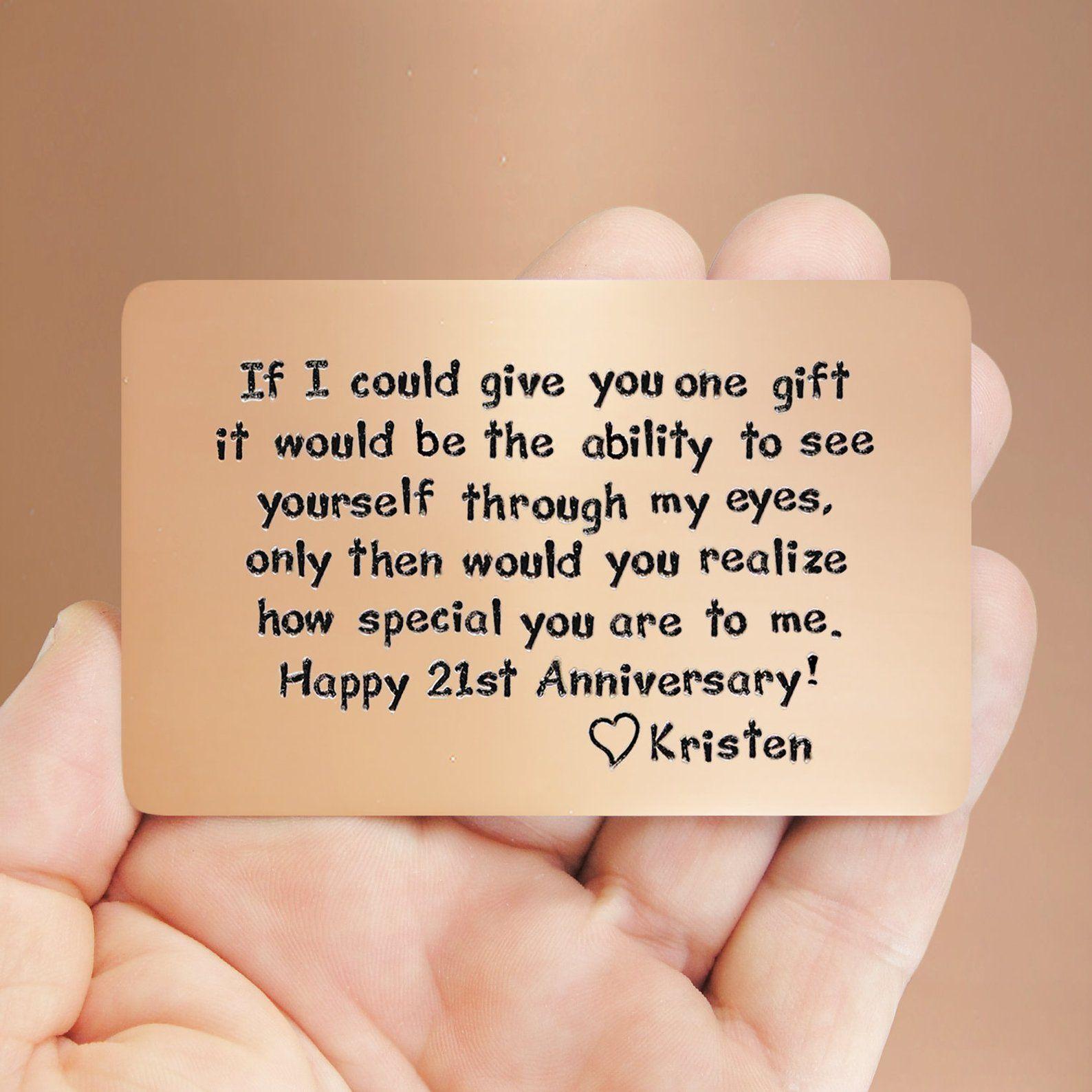 Mens Gift Idea 21st Anniversary Unique For Him