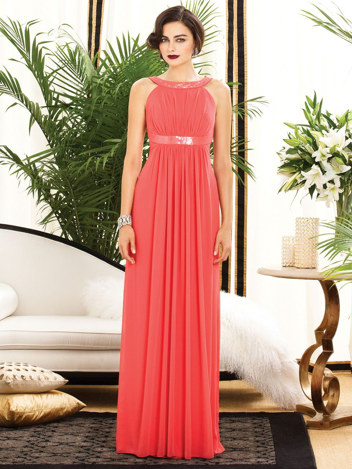 Dessy firecracker 2889 wedding pinterest wedding dress halterneck orange bridesmaid dress from dessy ombrellifo Gallery
