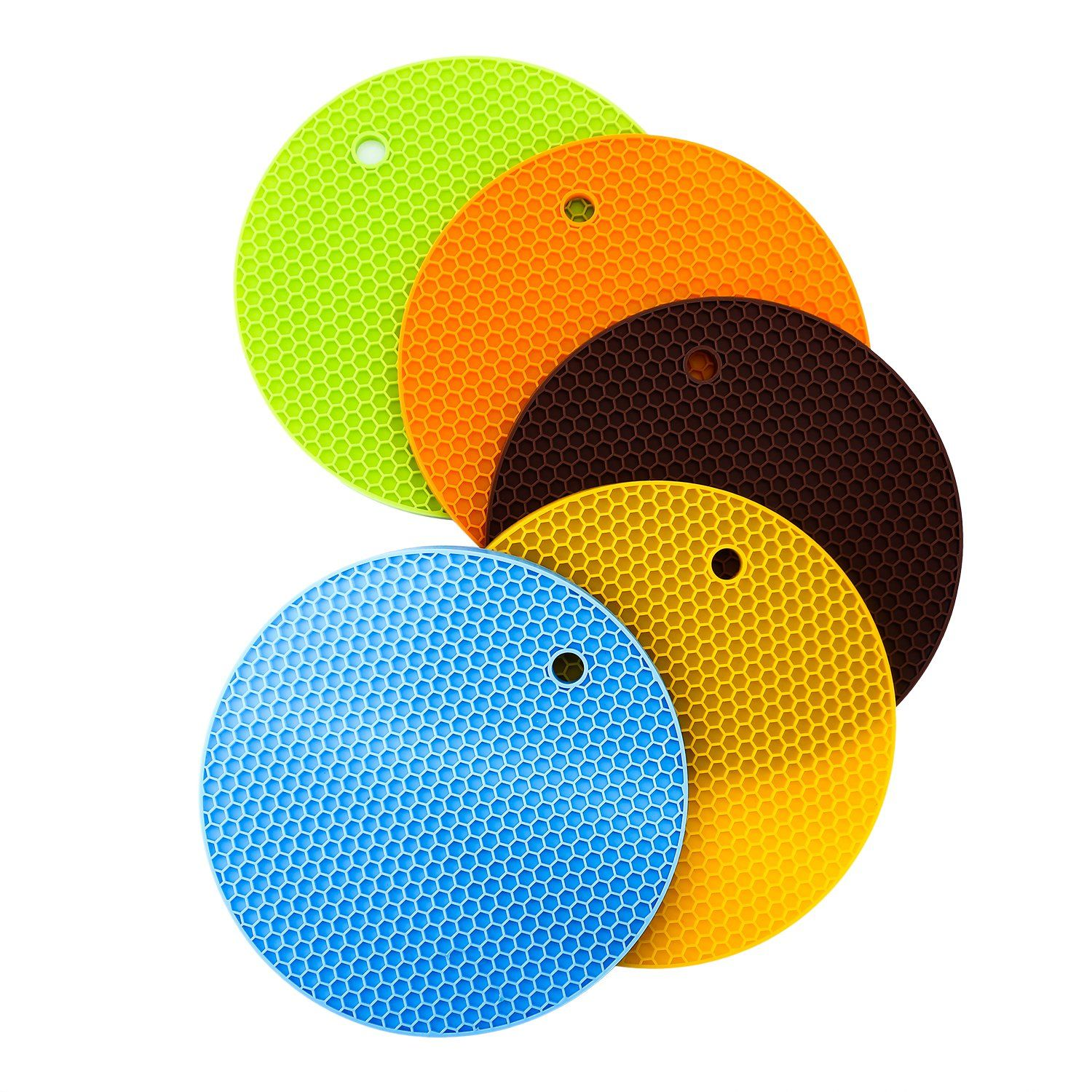 Silicone Pot Holders, DAMI Kitchen Trivet Mats And Hot Pads Insulated Non  Slip Flexible Durable