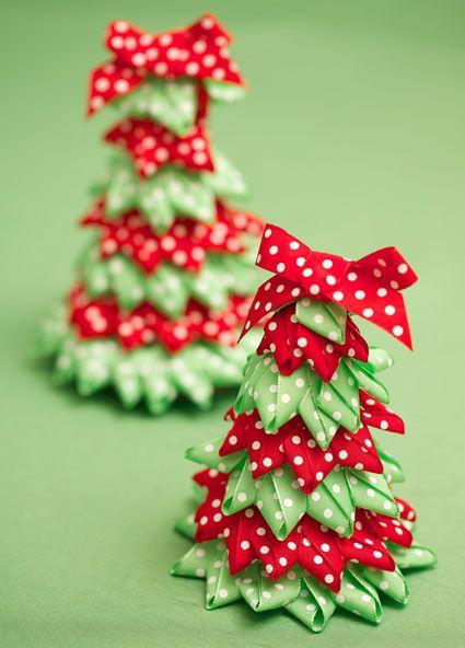 Ribbon tree and craft ideas festive ribbon for Christmas tree ornament craft ideas