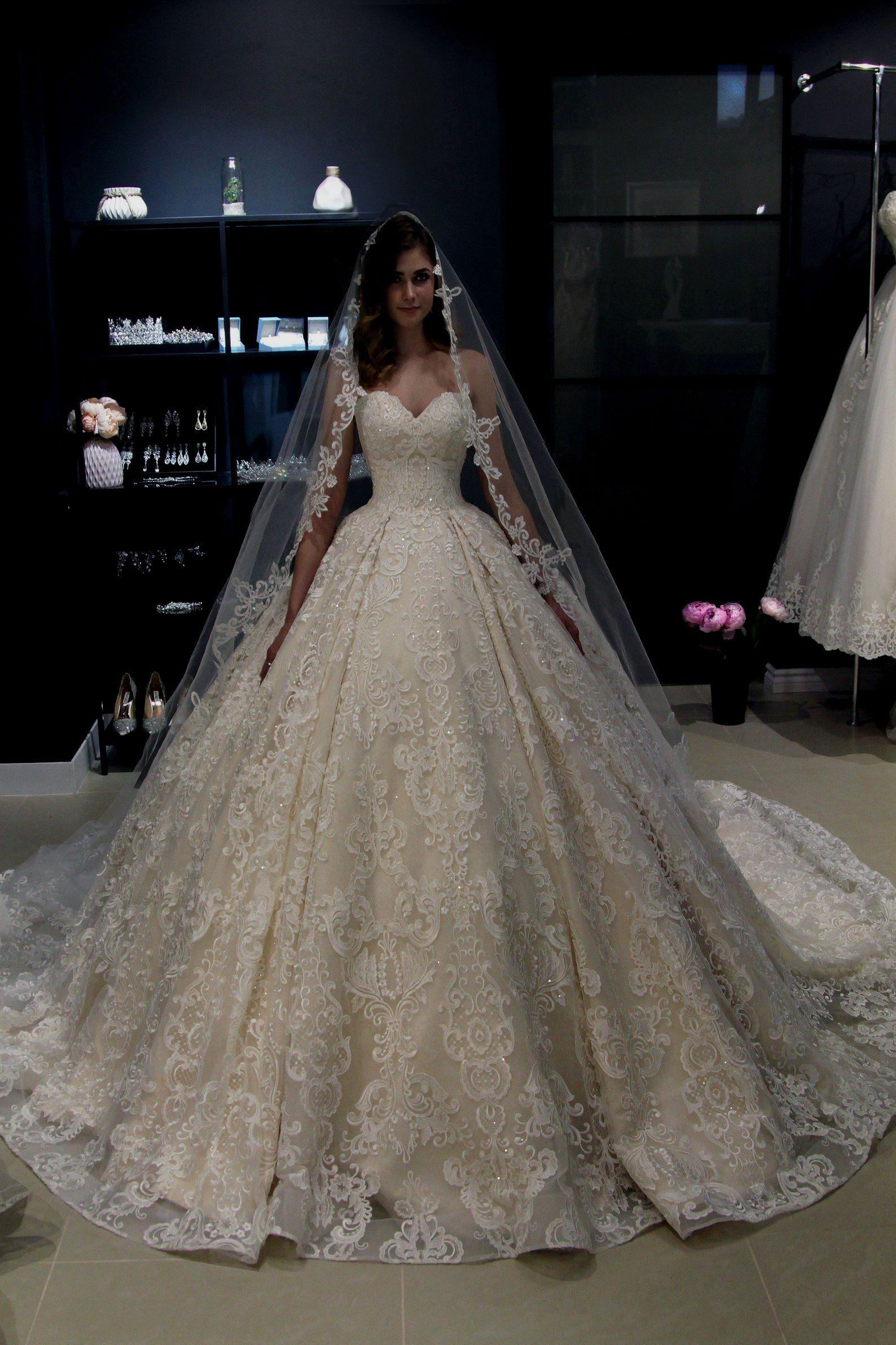 From the shoulder Princess wedding dress Elmi by Olivia  Princess