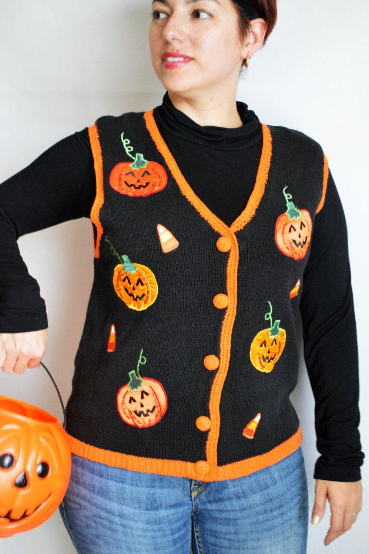 31 Vintage Halloween Sweaters Halloween sweater, Vintage
