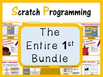 Scratch Programming Coding - The Entire 1st Bundle (ISTE 2016 Aligned)