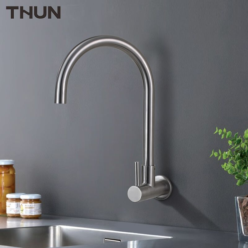Thun Water Filter Taps Kitchen Faucet Stainless Steel Wall Mounted Tap Drinking Water Tap Kitchen Faucet Tap Water Tap Stainless Kitchen Faucet Drinking Water