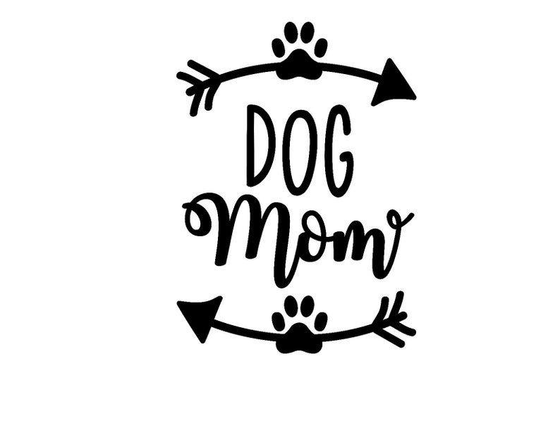 Dog mom arrow vinyl decal car decal etsy in 2020 car