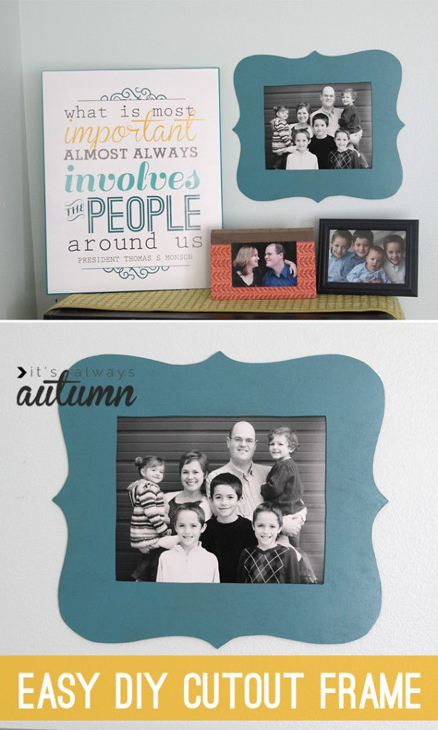 20 Best Diy Picture Frame Tutorials Best Of Pinterest Pinterest