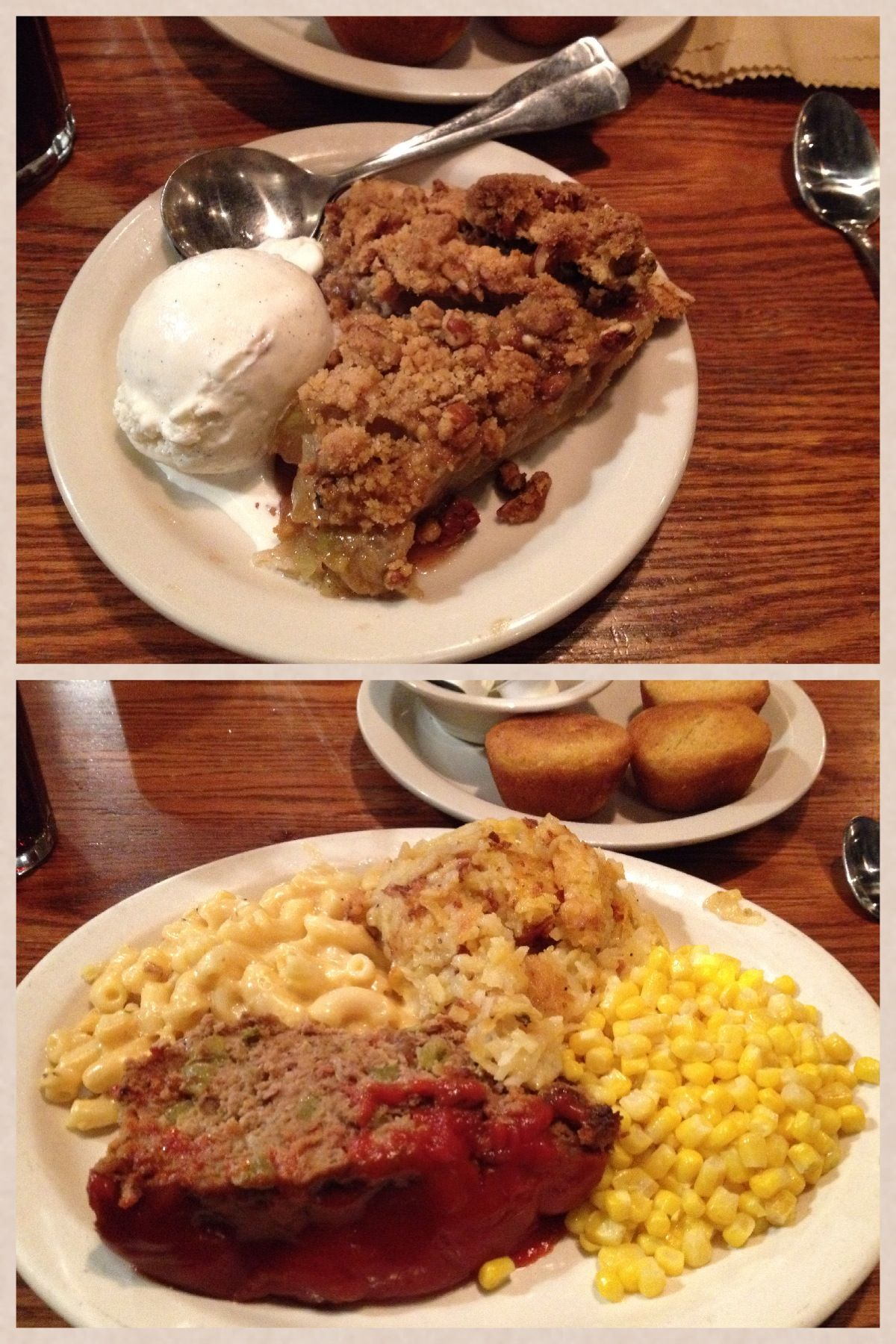 Cracker Barrel Meatloaf Apple Pecan Streusel Pie Food Food To Make Recipes