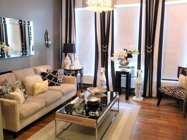 Best Classic Black And White Rooms From Hgtv Fans Glam Living 640 x 480