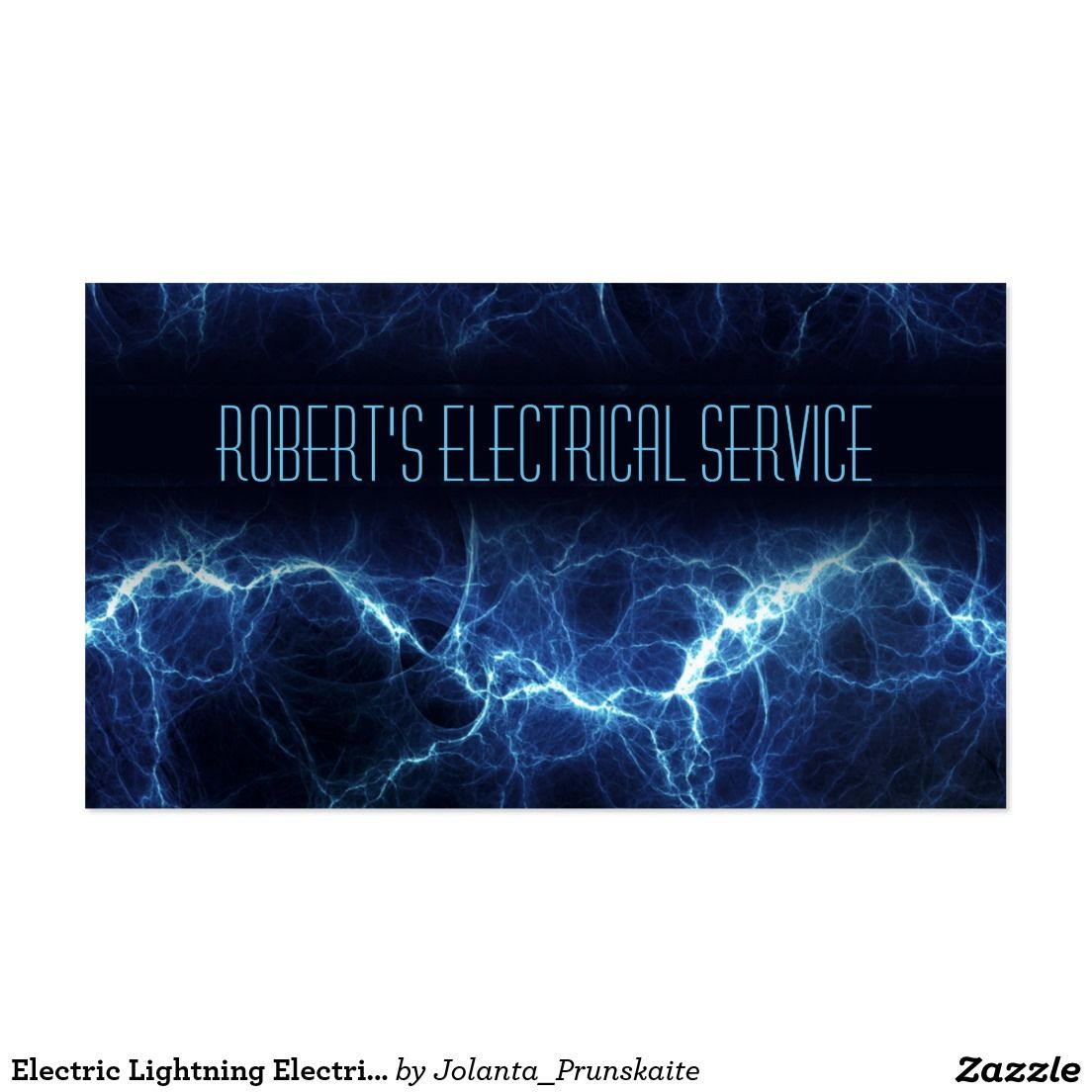 Electric Lightning Electrician Business Card | Business Cards ...