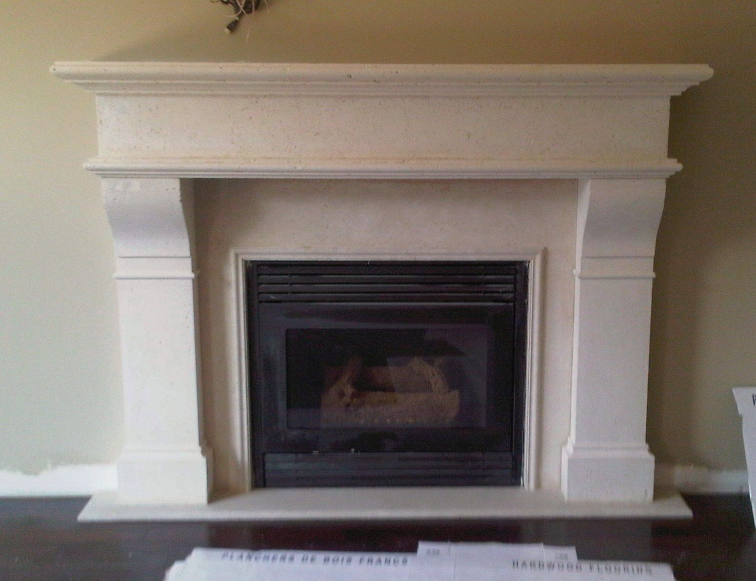 Spray Paint Wooden Fire Surround