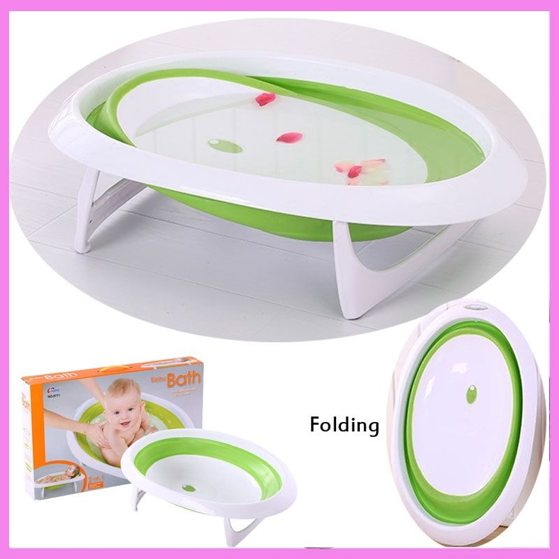 Baby Folding Bath Tub Basin Newborn Portable Sitting Lying Small ...