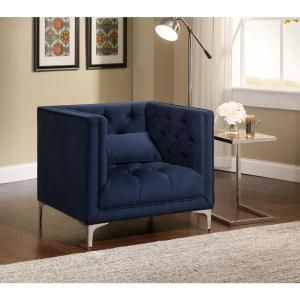 Anna Armchair Ink Blue Living Room Chairs Gold Living