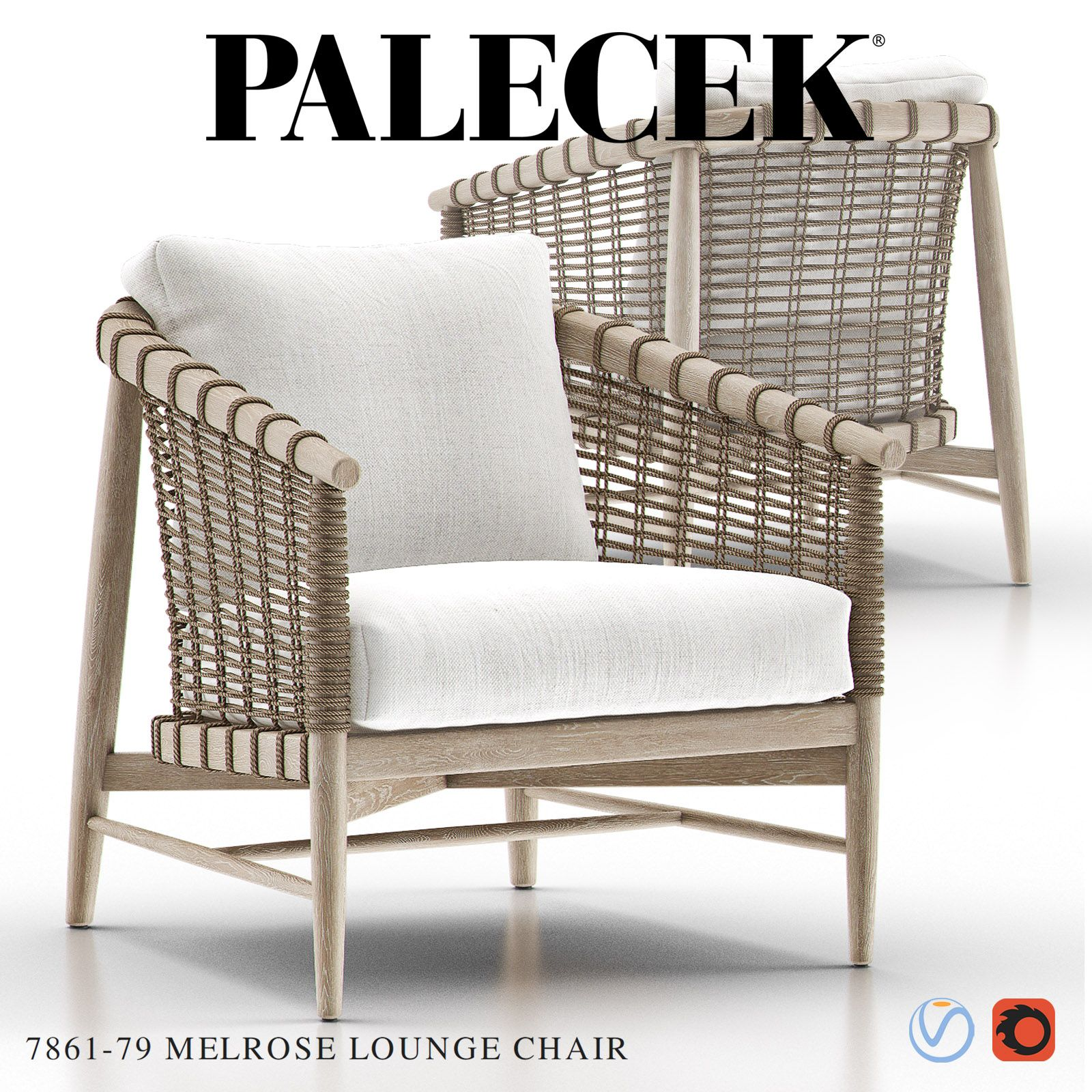 Melrose Lounge Chair from Palecek Jeffrey Alan Marks