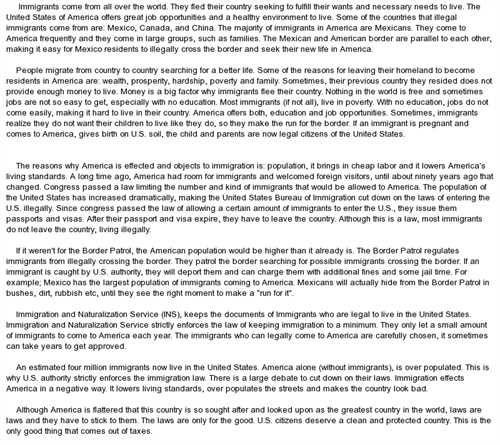 Argumentative essay topics on immigration mistyhamel