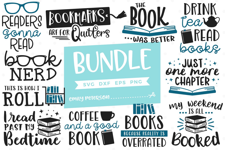 Download Book Lover Bundle 11 Designs SVG DXF EPS PNG | Book lovers ...