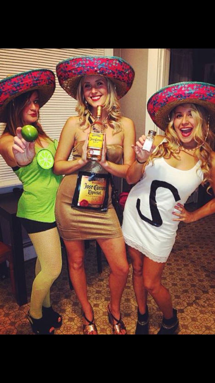 DIY Salt, tequila & lime Halloween costume. Great for group of friends! #halloween #holiday #DIY
