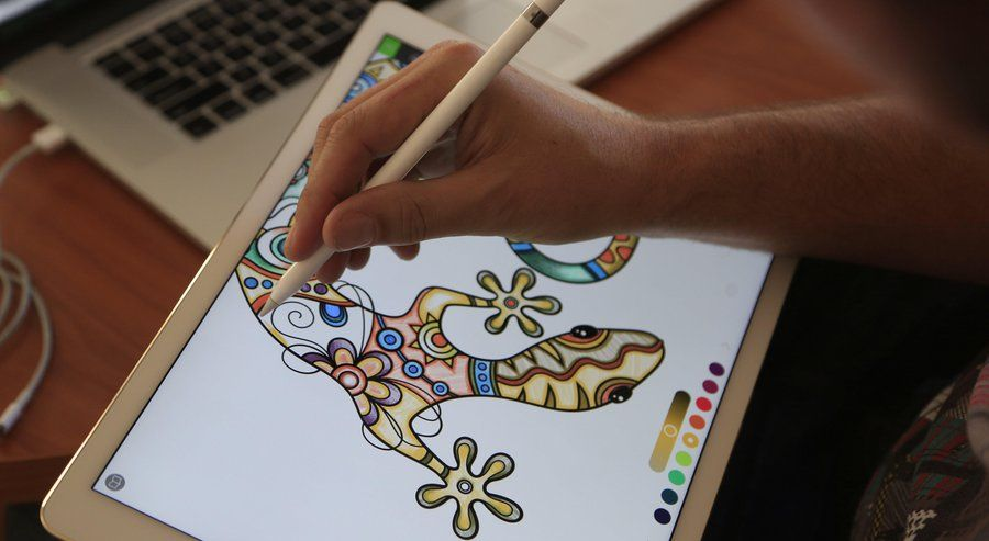 Pixite Creative Developer Ben Guerrette Demonstrates The Companys Coloring Book App Pigment On An IPad Pro With Apple Pencil