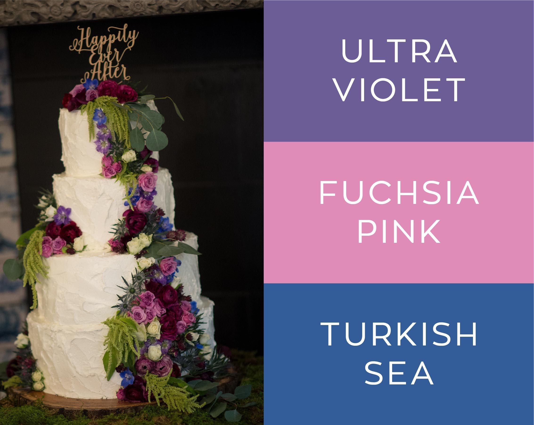 Weddings at Ultra violet Rustic wedding cakes and Violets