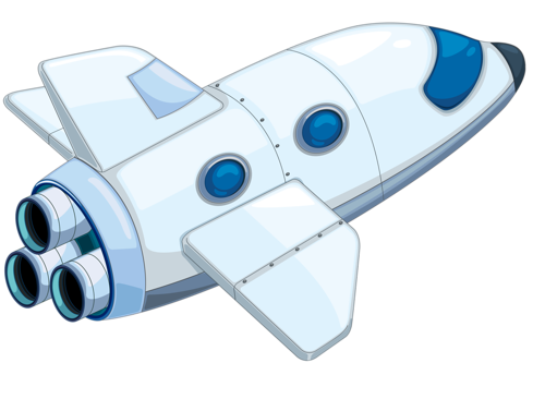 Space shuttle cartoon clipart