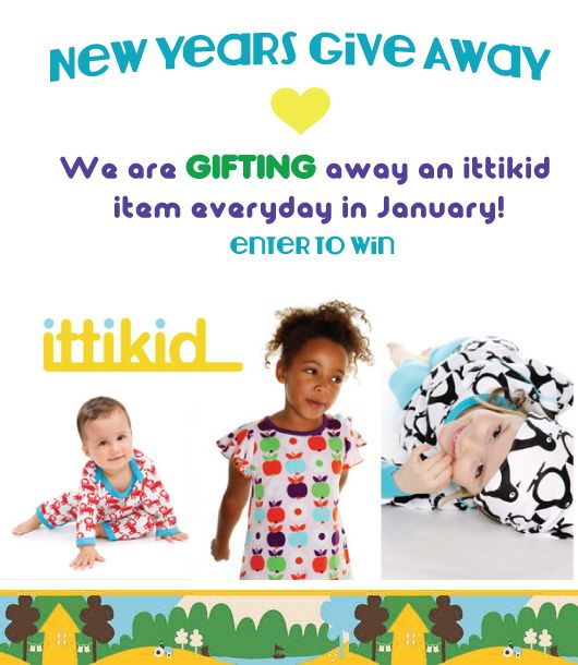 ittikid New Year's Gift Away! Daily give away until January 31st 2013.  ittikid : Scandinavian Children's Clothes