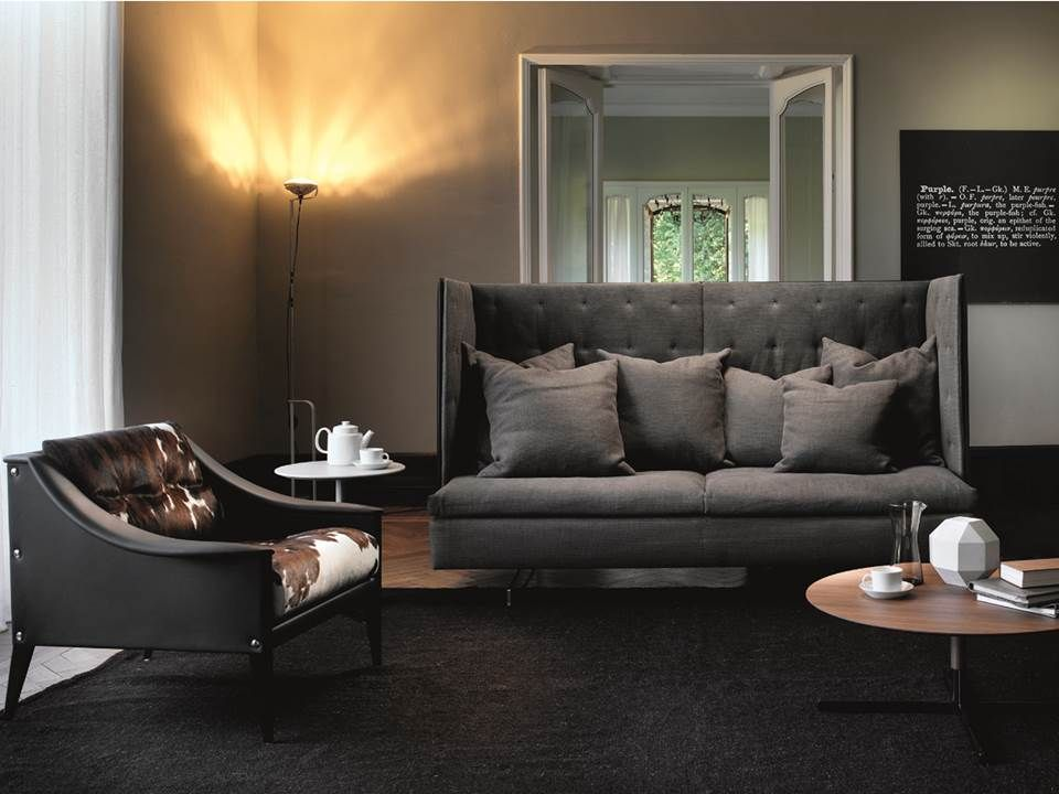 Poltrona Frau Dezza Grantorino High Back Sofa Bob Tables