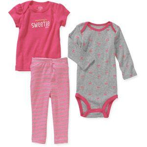98be9bff0 Child of Mine by Carters Newborn Baby Girls  3 Piece Tee