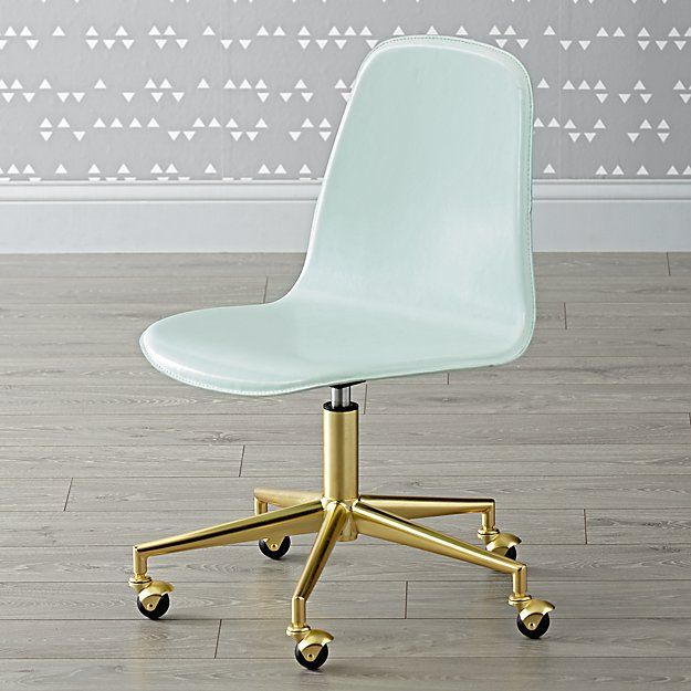 Kids Class Act Mint And Gold Desk Chair In 2018 Bedroom