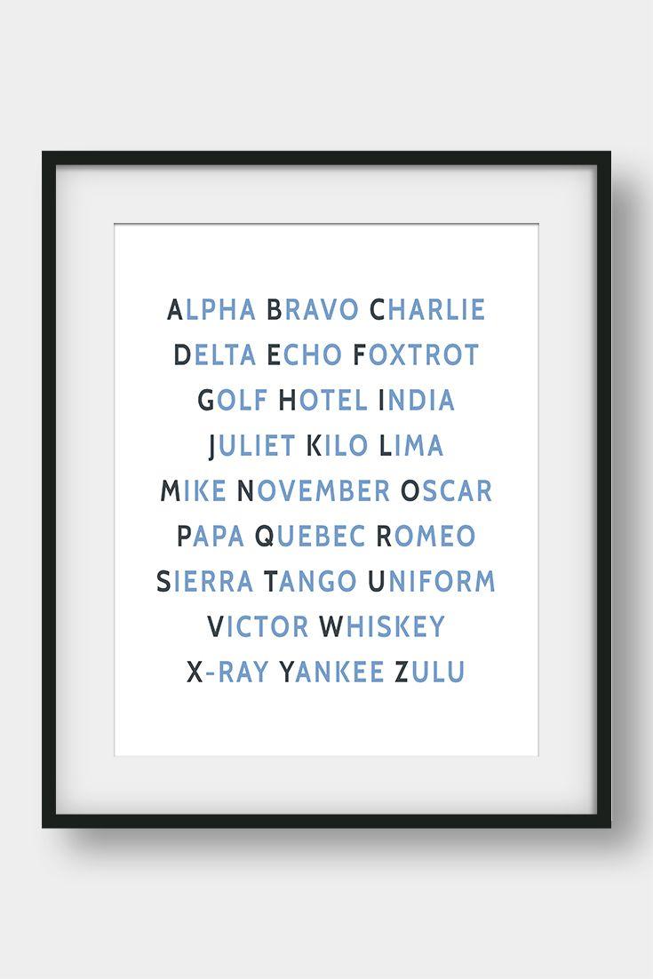Nato phonetic alphabet print aviation art aviation decor pilot nato phonetic alphabet aviation decor pilot gift boys room decor gift for spiritdancerdesigns Gallery