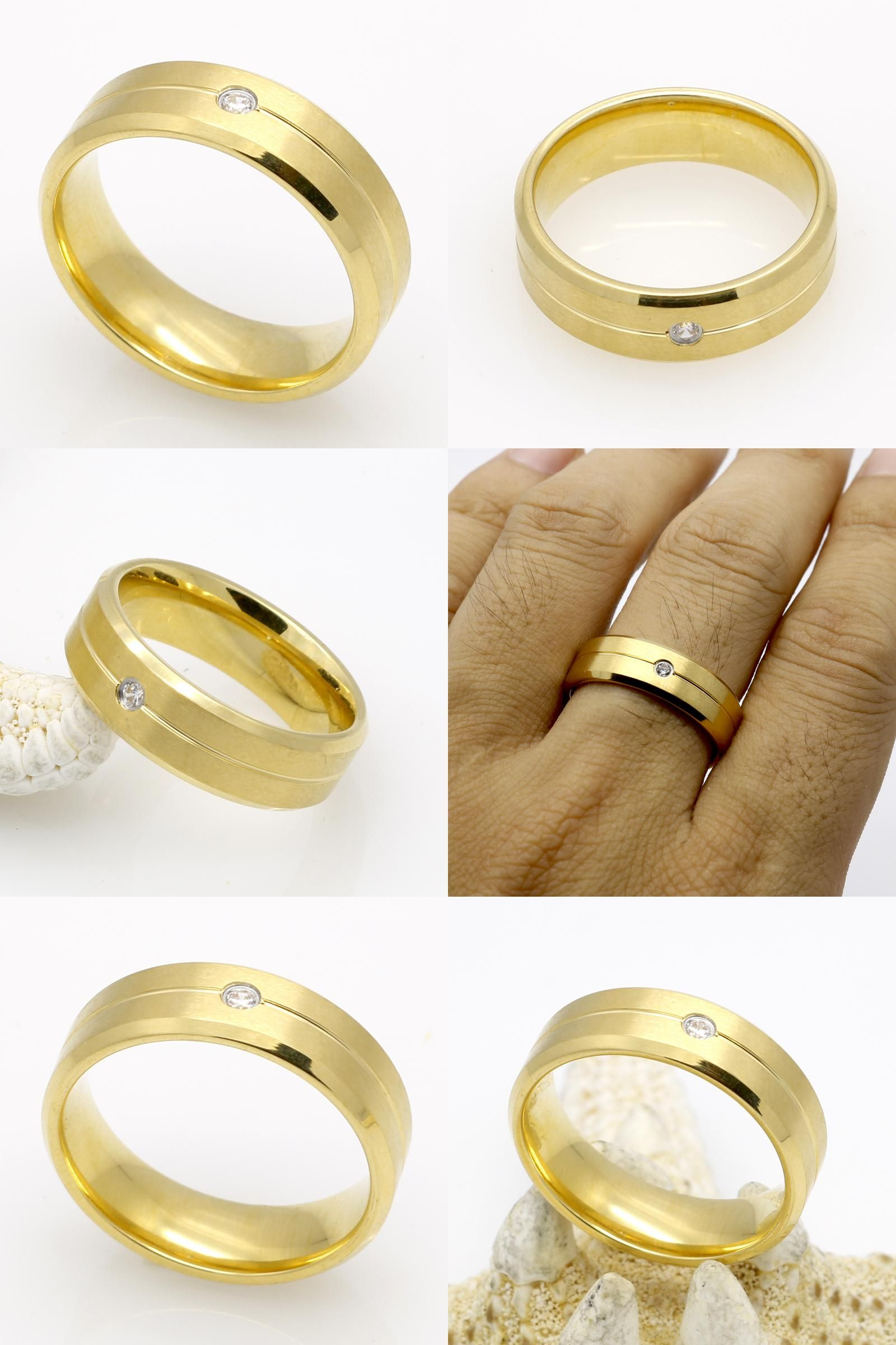 Visit to Buy] Top Quality Engagement Fashion Couple JewelryGold
