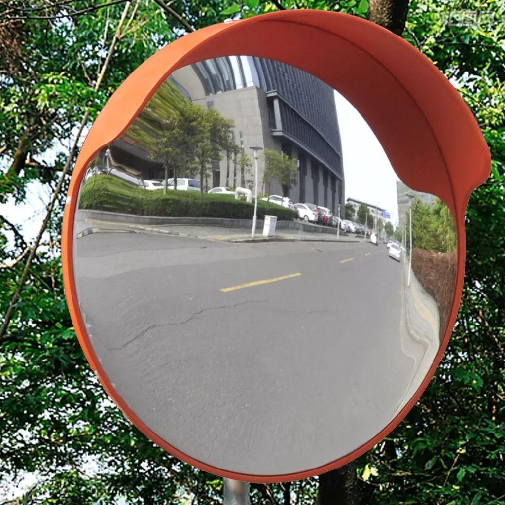 Driveway Mirror Traffic Mirrors Orange Convex Curved Gl Wide Angle