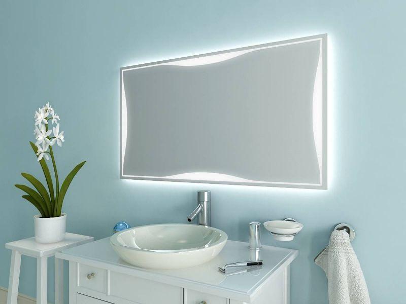 Badezimmerspiegel Lampe ~ Badezimmerspiegel mit led beleuchtung m l von spiegel