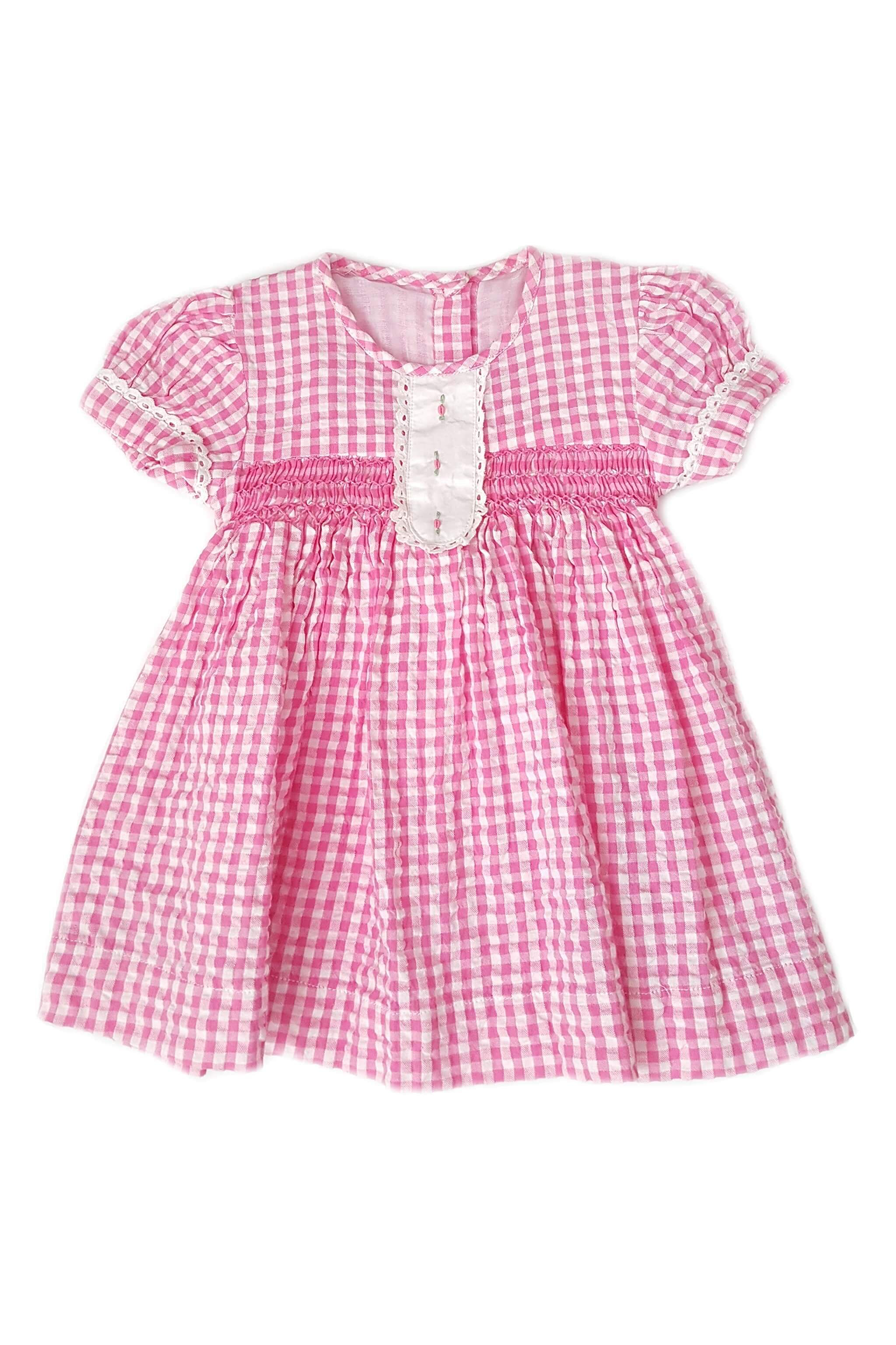 340527ad9 Pink Bunny Stripes and Dots Girls  Easter Dresses