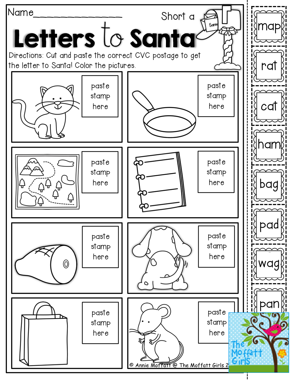 Printable Worksheet Christmas Rhyming For Kindergarten