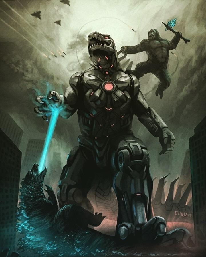Godzilla and kong vs mechagodzilla  | Godzilla vs. Kong