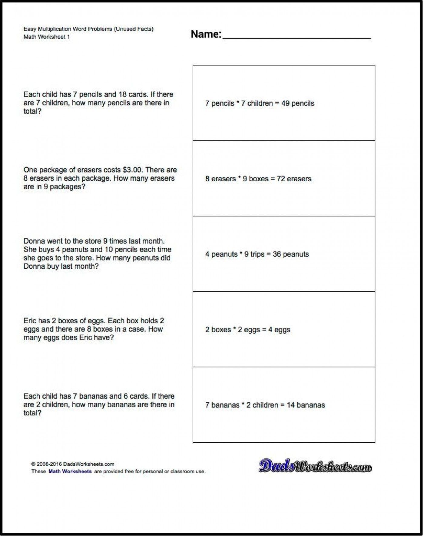 4 Free Math Worksheets Second Grade 2 Addition Add In Columns Missing Addend 016 Year Homewor Math Word Problems Division Word Problems Word Problems