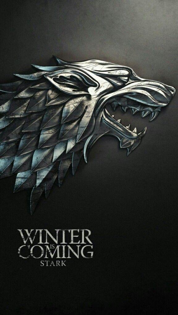 Got Wallpaper House Stark Winter Isso Coming Game Of Thrones Poster Game Of Thrones Winter Game Of Thrones Houses