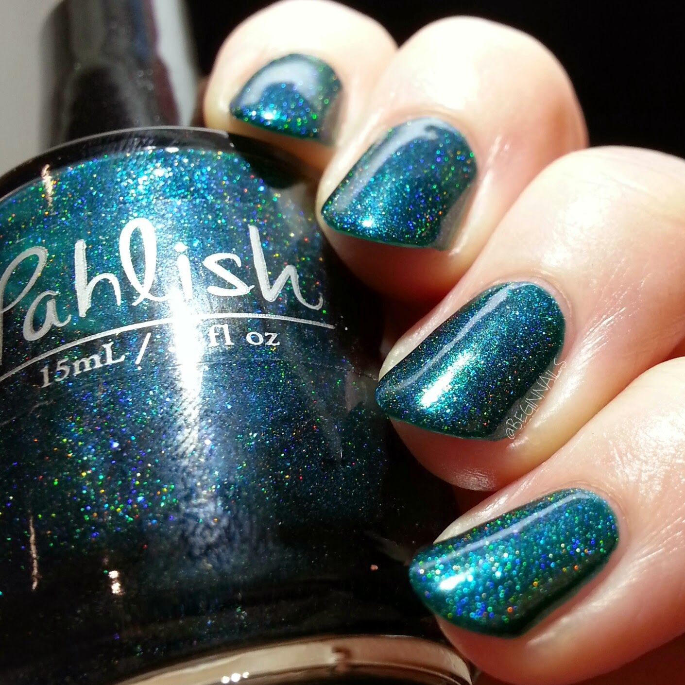 BeginNails: Every Journey Has a Beginning: April 2015 A Box, Indied Swatch and Review  Quite Ribbiting from Pahlish topped with Gem Glam Top Coat from Dream Polish swatched by @beginnails  http://www.beginnails.blogspot.com/2015/04/april-2015-box-indied-swatch-and-review.html