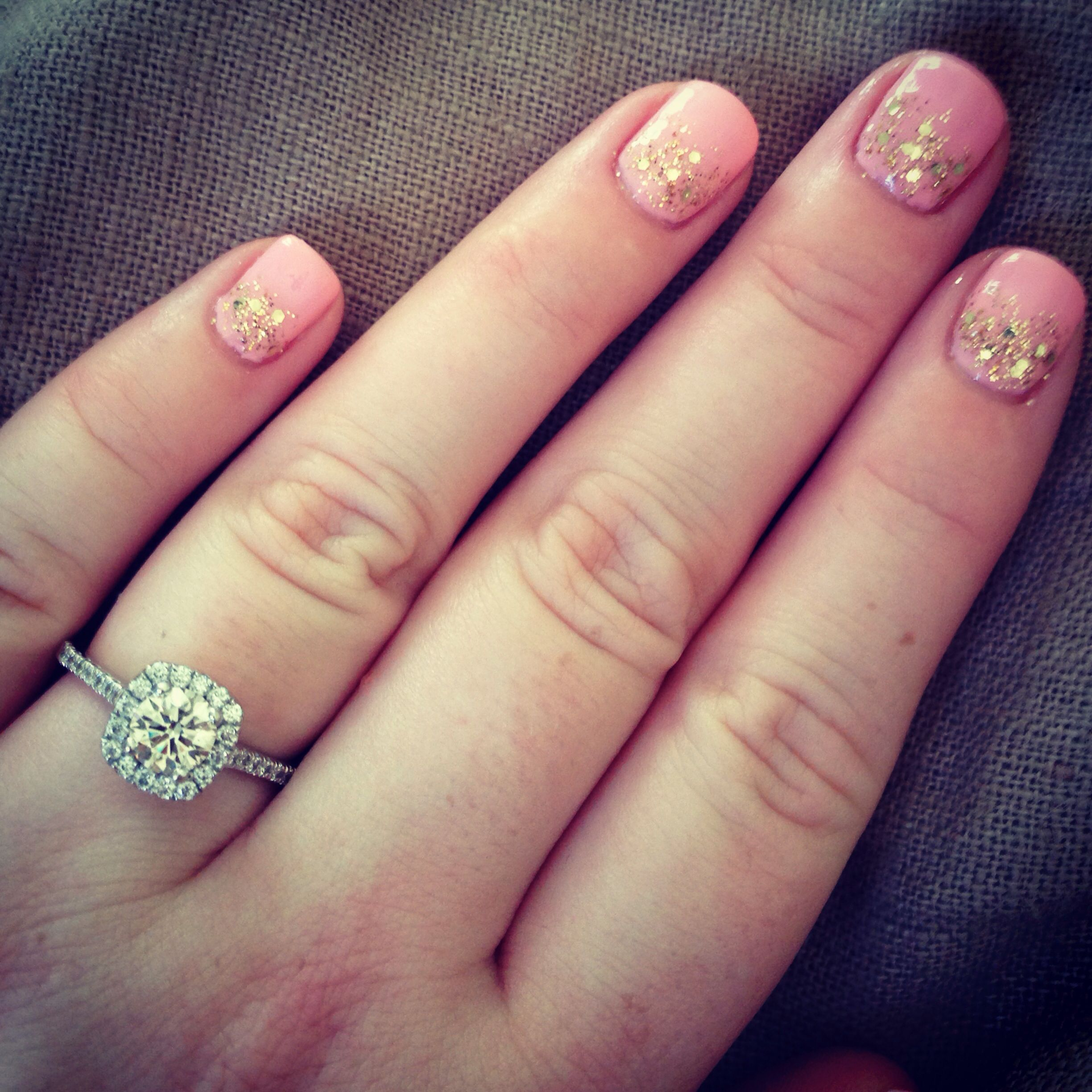 My Wedding Nails And Engagement Ring