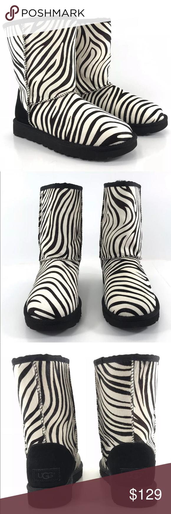 0f35fca4a2e UGG Winter Boots Classic Short Zebra Calf Hair UGG Australia Winter ...