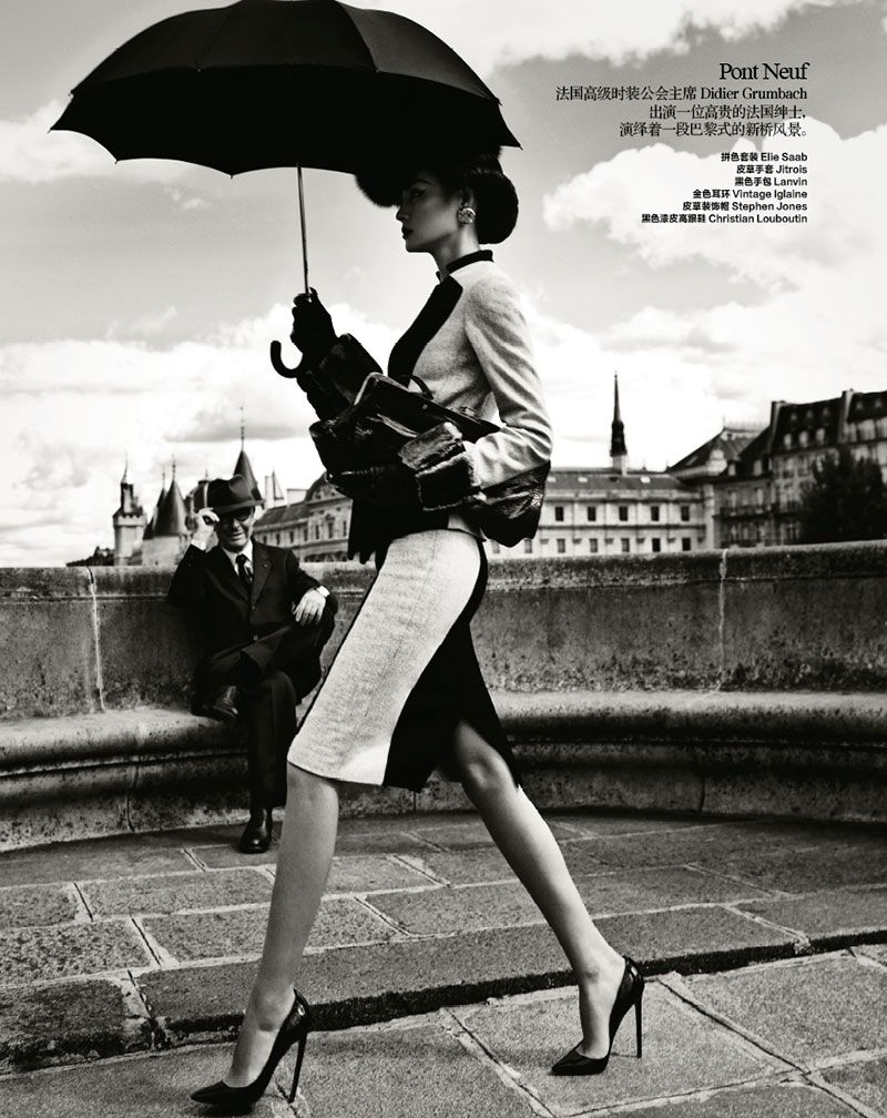 Takes Paris in Classic Fashion  Harper's Bazaar China October 2012  Модель: Miao Bin Si  Фотограф: Yin Chao  Стилисты: Fan Xiaomu и Gugu